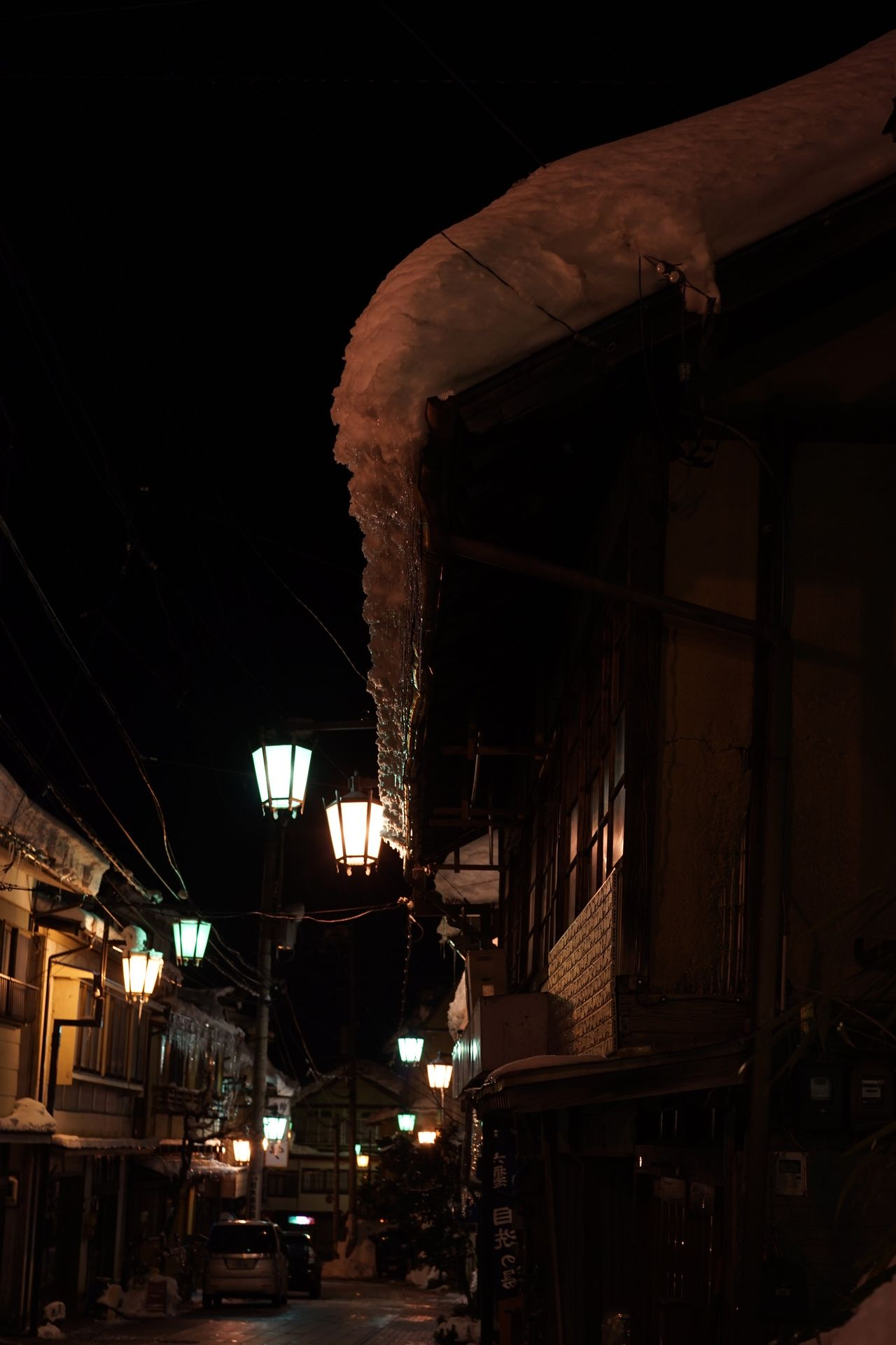 Night Illuminated Low Angle View Building Exterior Built Structure Architecture Outdoors Sky No People Hot Spring Japanese Traditional Full Length Snow Covered 渋温泉 Old House Old Buildings Old Town Japanese Temple Japan Photography Travel Destinations Onsen Iced Japanese Style Night Lights Night View