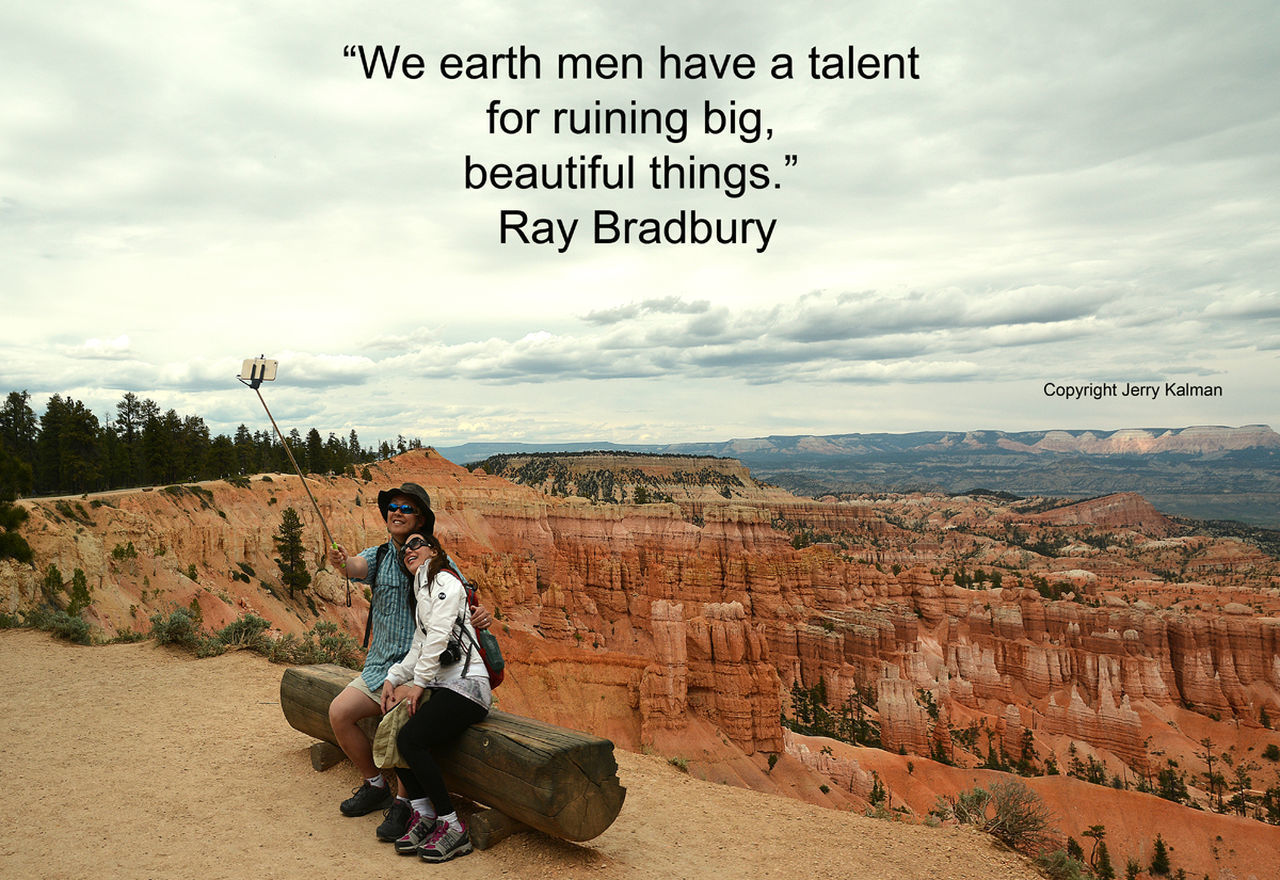 #RayBradbury provides this whimsical #quote with a scene at #BryceCanyonNationalPark. If this #quotograph resonates with you feel free to #repost for others to enjoy. Bryce Canyon National Park Plant Quotograph Quotography Ray Bradbury Ray Bradbury Quote Selfie U