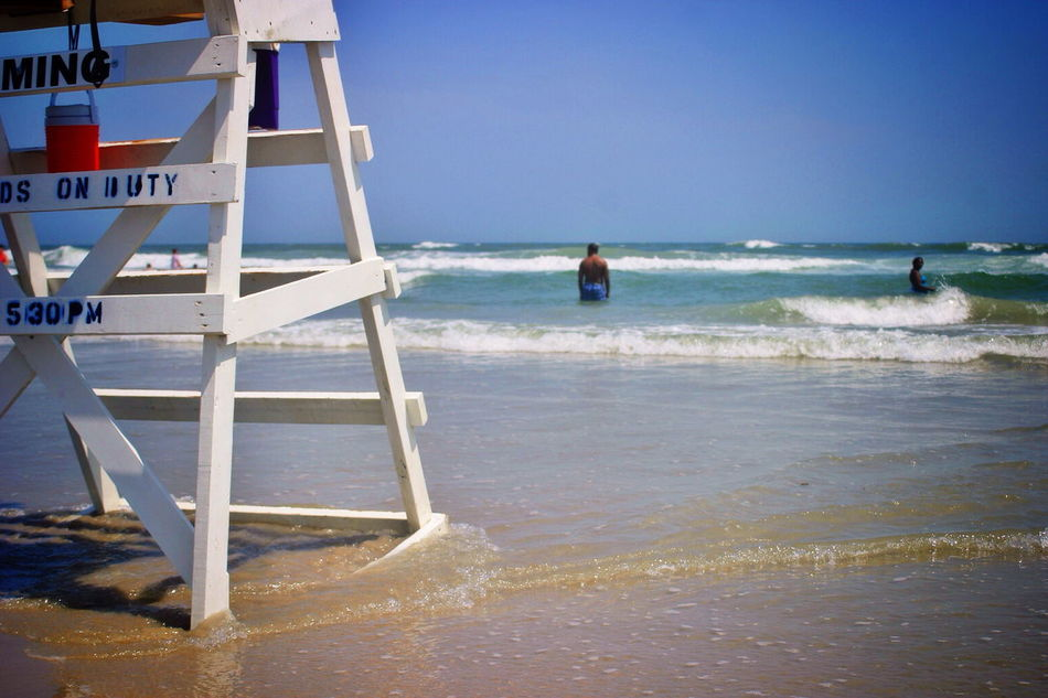 Beautiful stock photos of surf, Beach, Clear Sky, Day, Horizon Over Water