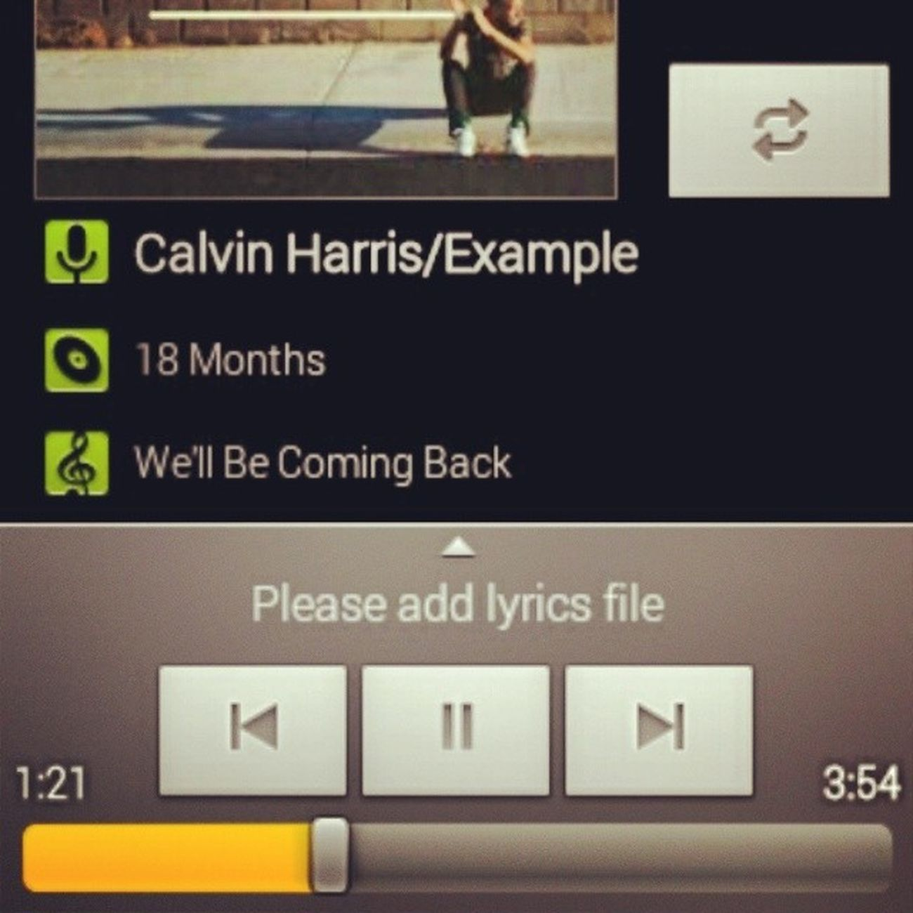 Goodmorning @calvinharris @example WellBeComingBack 18months StillIn friday
