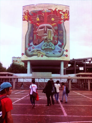 mural at UNAM Ciudad Universitaria by Zeebrita