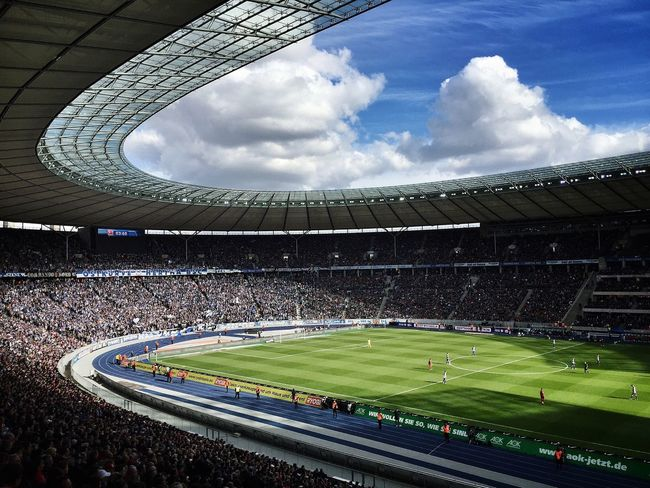 Soccer Hertha BSC FC Bayern Olympiastadion Architecture Iphone6 Mobilephotography