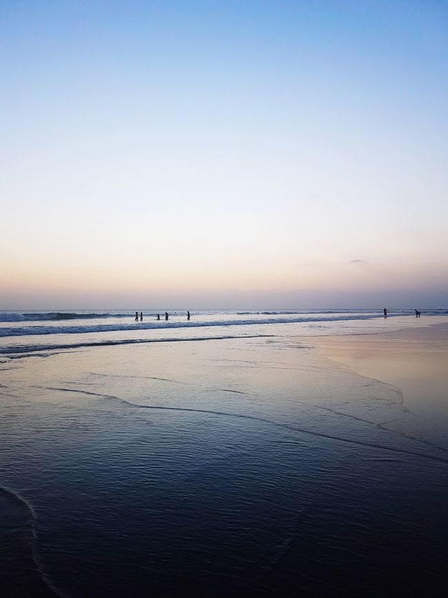 Bali Beach Sea Horizon Over Water Sunset Tranquility Landscape Sky Water Tranquil Scene Low Tide Travel Destinations Blue Travel Travel Photography