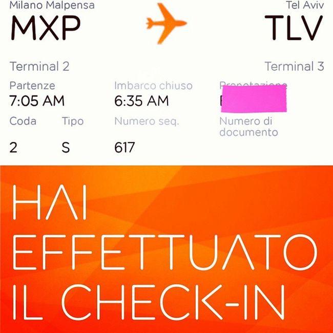 Check in andata 👍 Hotel 👍 Manca il ritorno e sono ready Autopresent Telaviv 29 anni -5