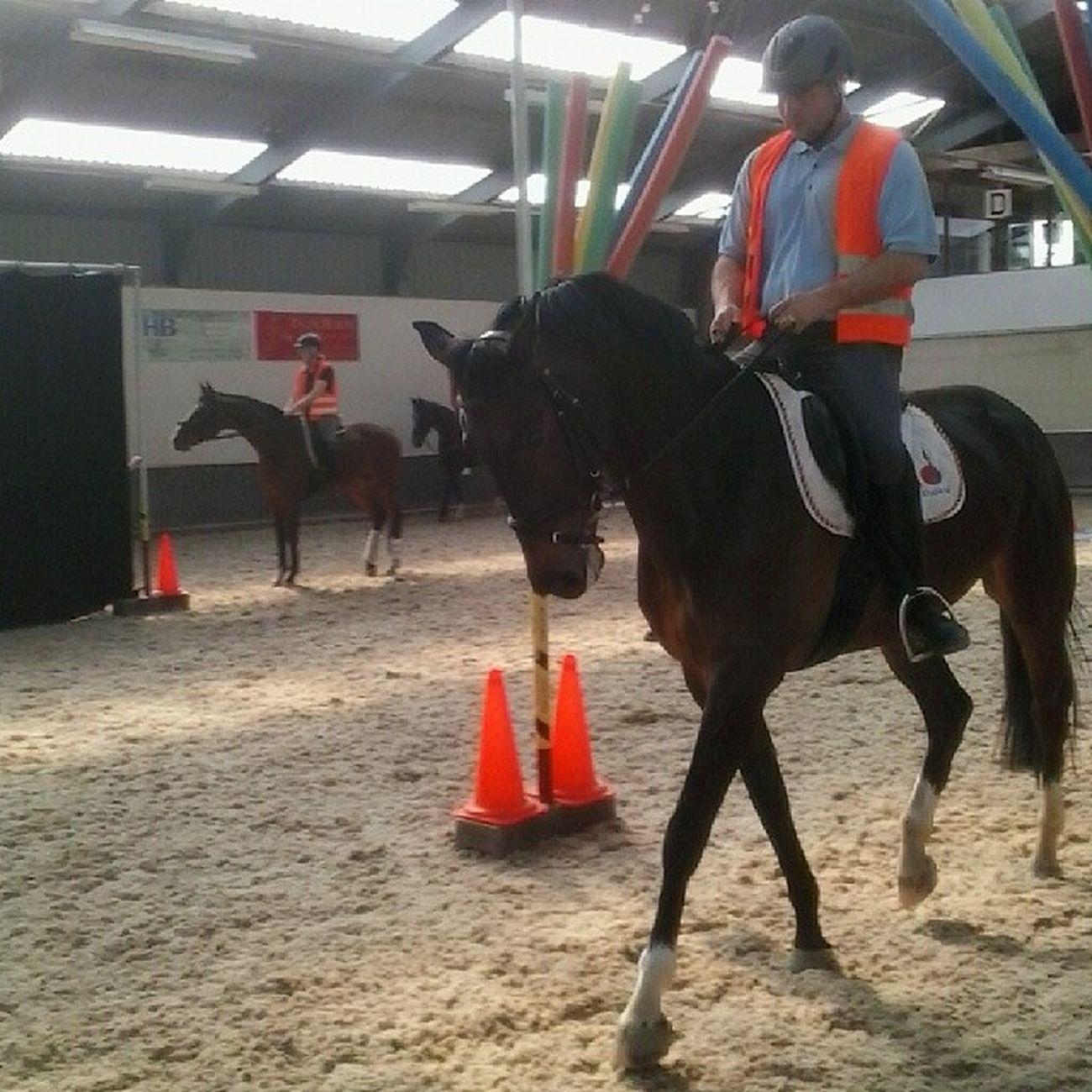 Trots op mijn pa @fridodv en ons paardje Schriktraining Leuk Spannend