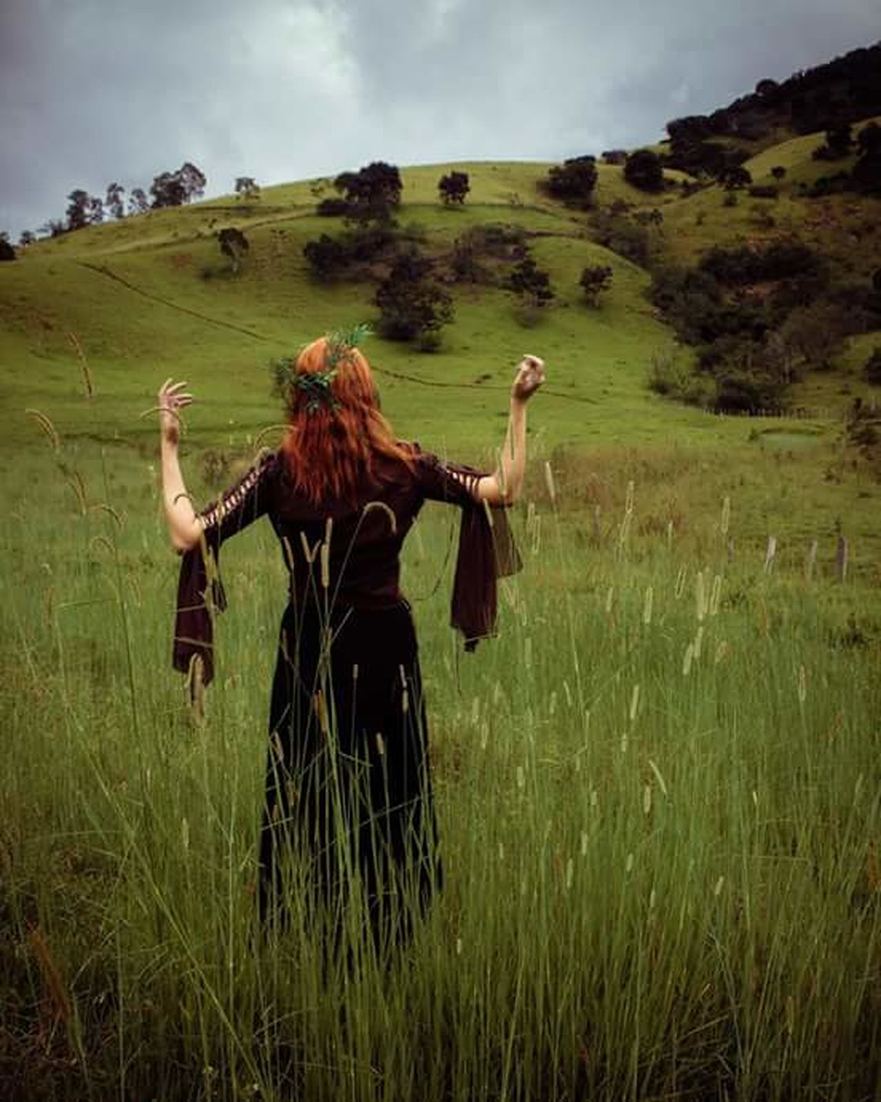 Redhair Redheads  Celtic Paganism Only Women Redheads  Gingerhair Nature Day Outdoors Goddess Beauty Folk Folklore Portrait Contemplation Young Women Field Of Dreams Redheadsdoitbest Beautiful Woman Ginger One Woman Only Dyed Hair One Young Woman Only People
