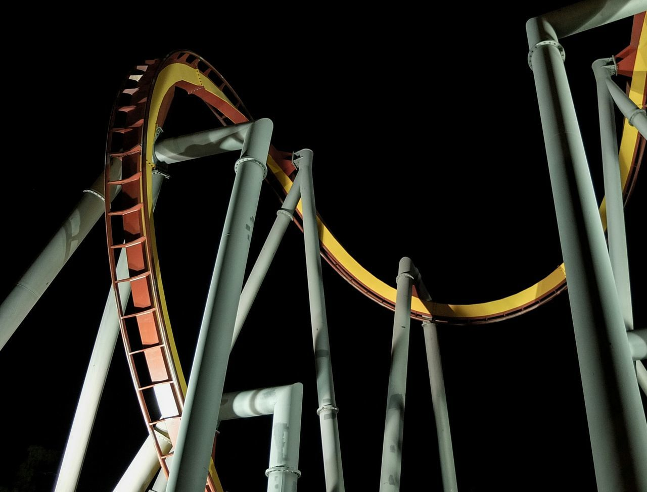 Beautiful stock photos of roller coaster, Adventure, Amusement Park, Arts Culture and Entertainment, Dark