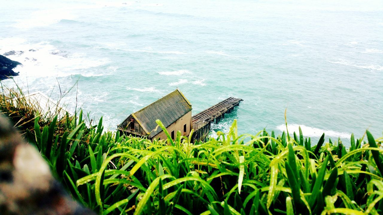 Water Grass High Angle View Nature No People Sea Lifeboat Station... Beauty In Nature Hd Photography Cornwall Uk Lizard Point