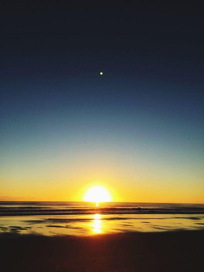 Beach Sun Sky Sunrise Morning Sea