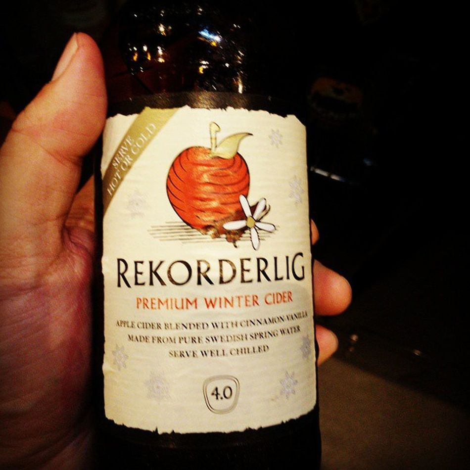 Hot or cold. Winter is coming. Cider Rekorderlig