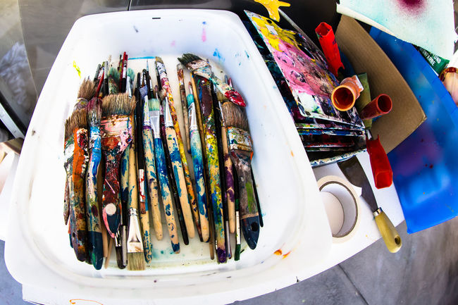Atelier II / with my DSLR Abundance Arrangement Art ArtWork Atelier Brush Brushes Choice Close-up Collection Colorful Colour Colours Craft Creativity Creativity Kunst Large Group Of Objects Multi Colored No People Paint Painting Studio Shot Variation Vibrant Color