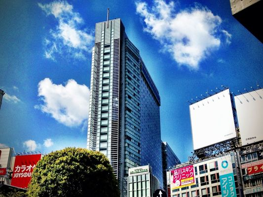 clouds and sky at 渋谷駅 (Shibuya Sta.) by Jun