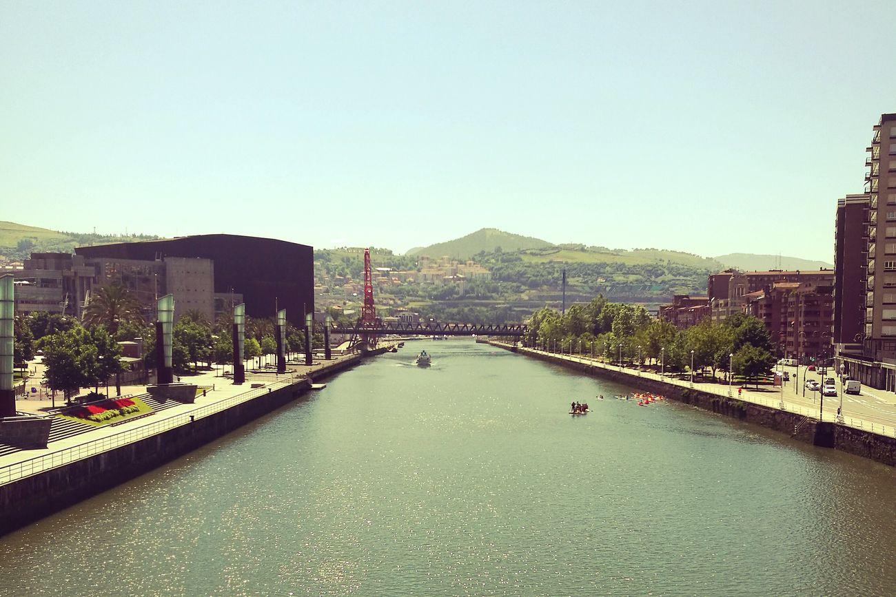 Taking Photos Bilbao Bilbaolovers River Boats⛵️ Gruakarola Bridge View
