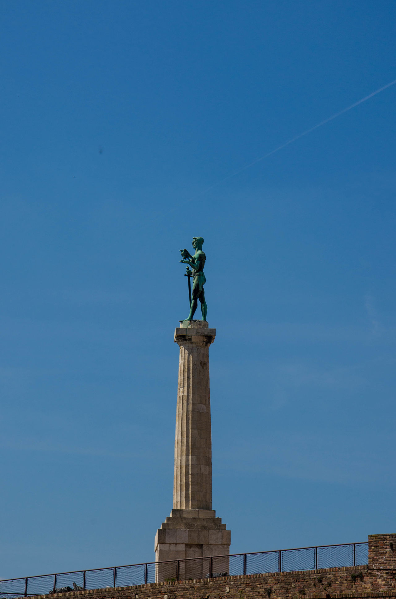 Architecture Blue Blue Sky Clear Sky Clear Sky Day Man Monument No People Outdoors Sculpture Sky Statue Statue Travel Destinations Victory Victory Monument Winner Ww1 Ww2 WWII My Year My View Liberty Statues Statues And Monuments