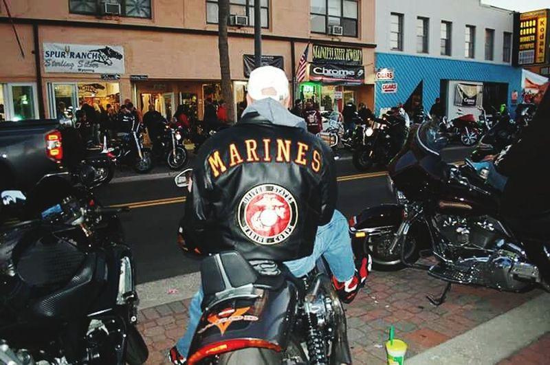 EyeEm Diversity One Person EyeEmNewHere Bike Week 2017 People Crowd USMC Usmclife USMC VET Veterans To Remember Respect Daytona Beach Outdoors Arts Culture And Entertainment Audience