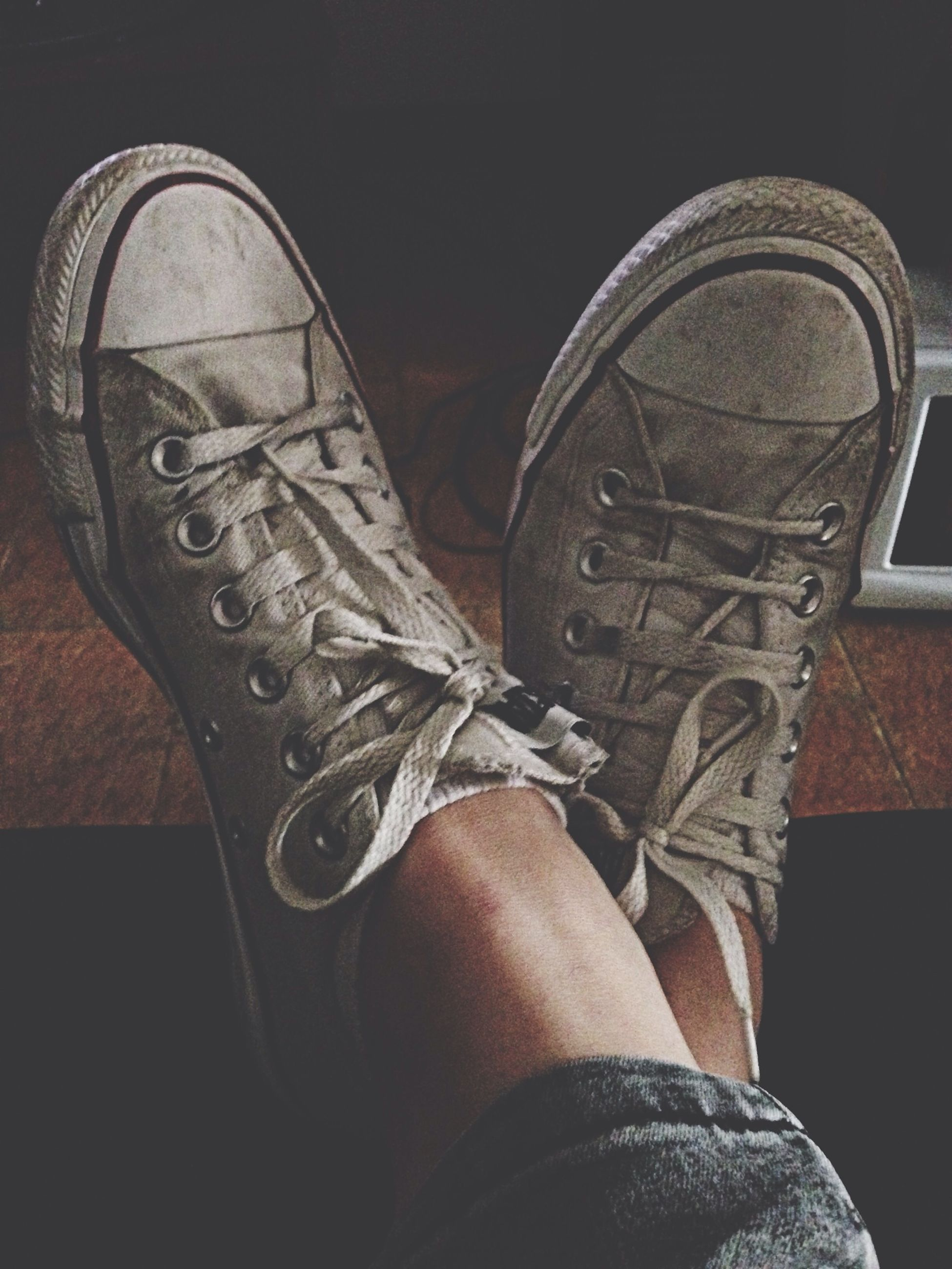 low section, person, shoe, personal perspective, lifestyles, footwear, standing, jeans, fashion, human foot, men, leisure activity, part of, close-up, indoors, wearing
