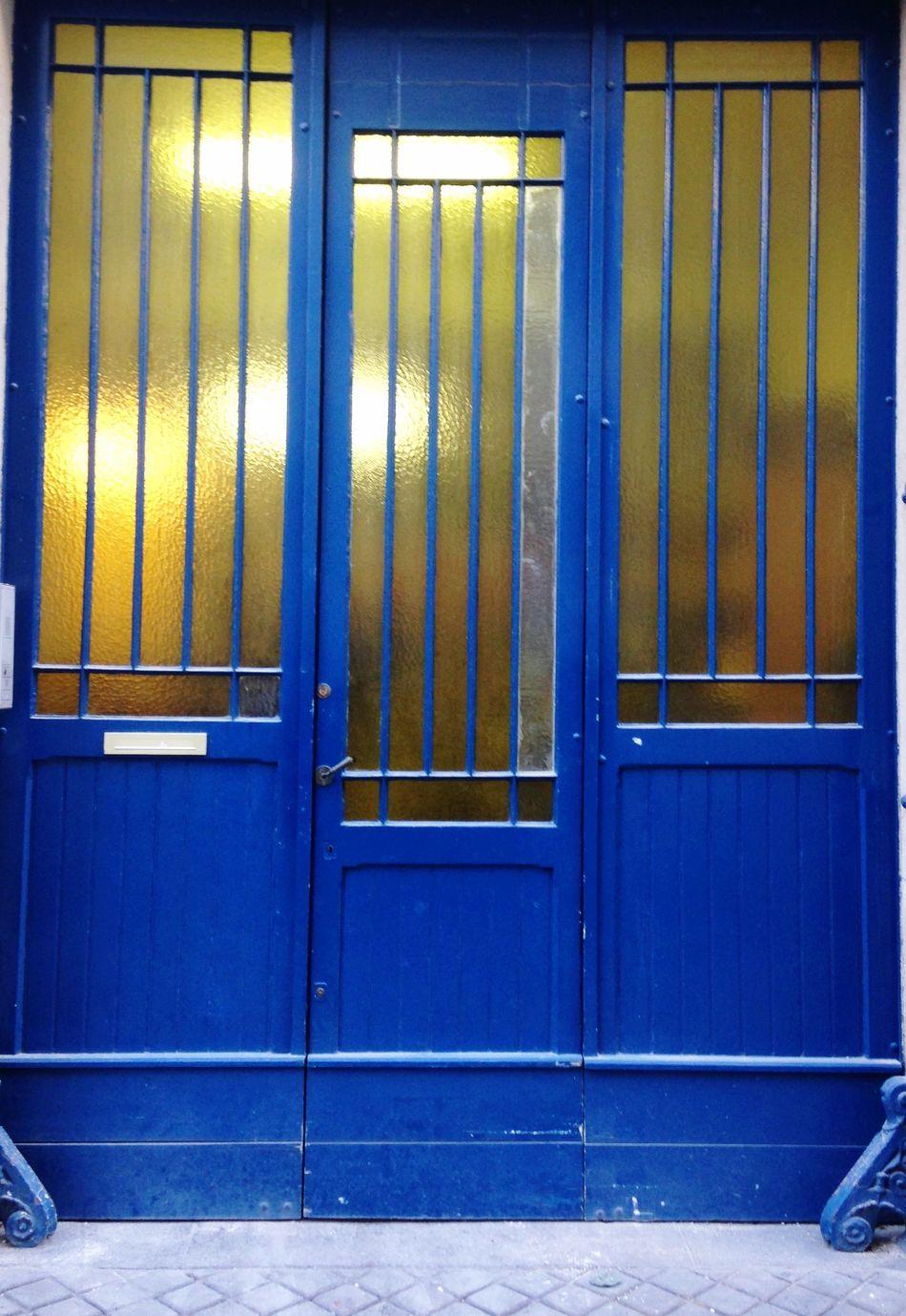 Blue Door Urban Geometry Streetphotography
