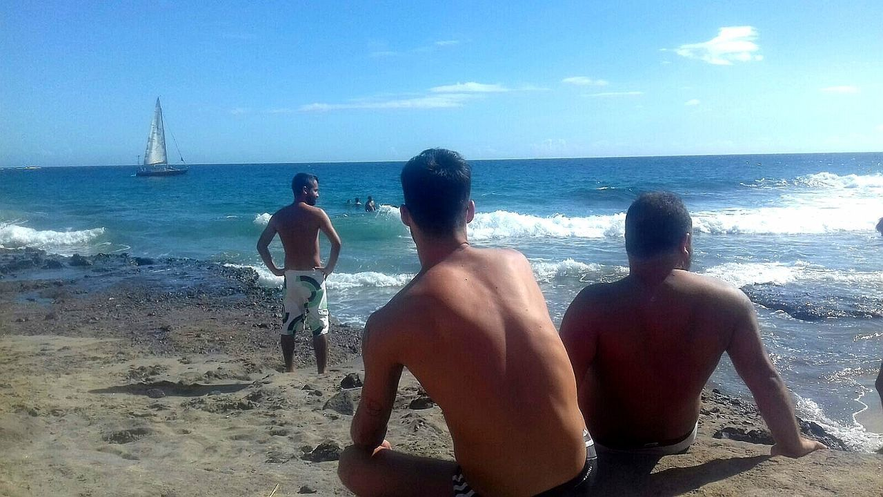 Tenerifelicidad Beach Sea Water Sand Friendship Summer Nature Real People Horizon Over Water Scenics Paradise Beach Tenerife. Caleta Diego Hernández Caleta De Los Hippies