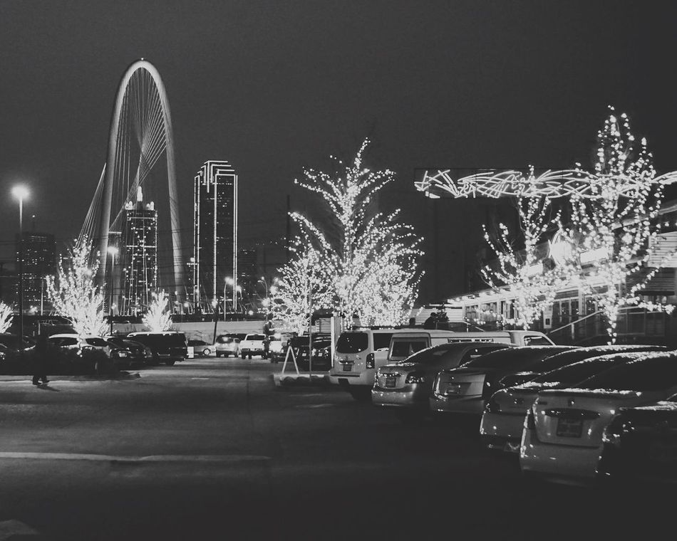 Welcome To Black Margrethunthillbridge Dallas Texas B&w