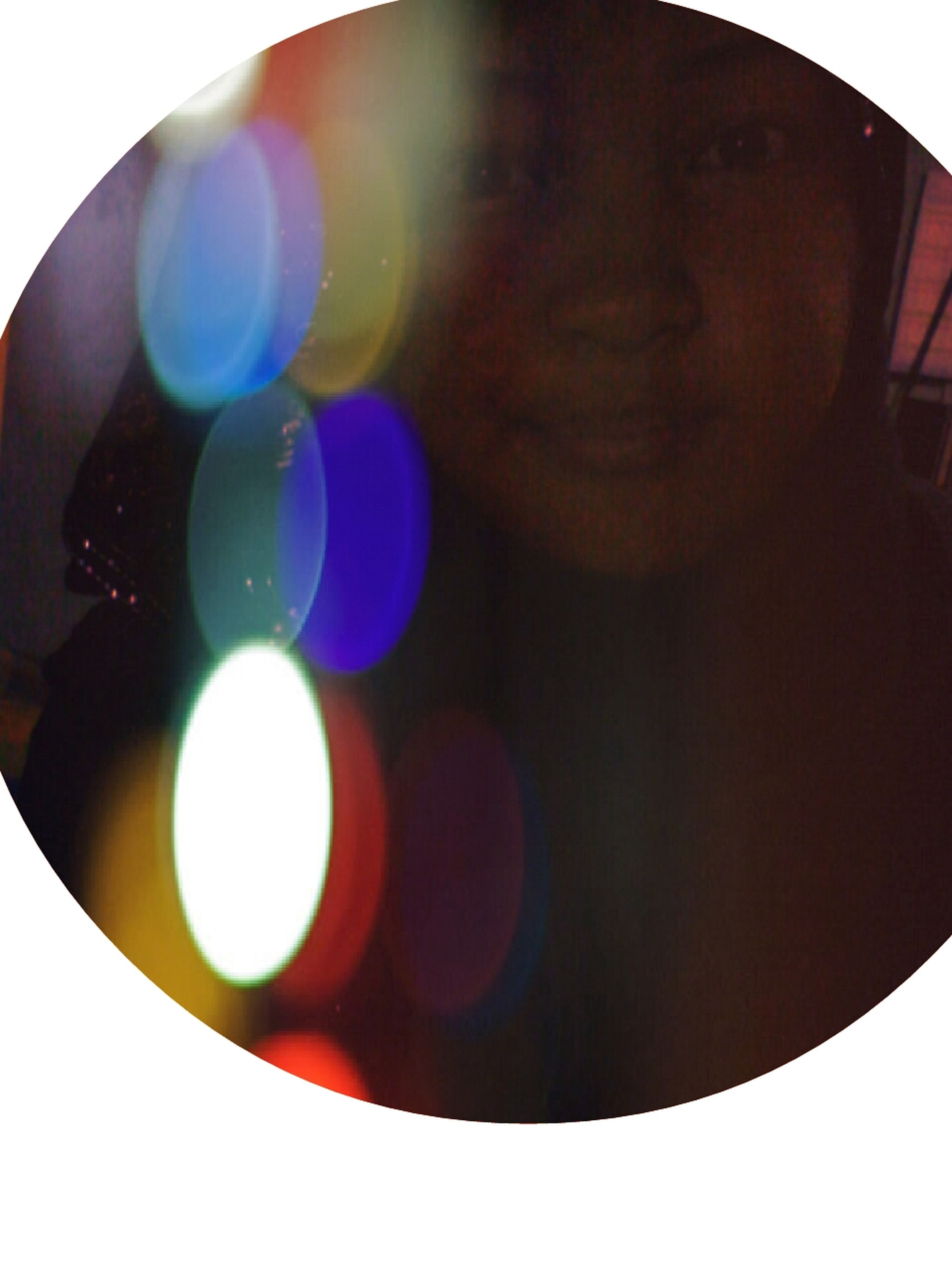close-up, multi colored, circle, lens flare, auto post production filter, balloon, sphere, low angle view, illuminated, lighting equipment, transfer print, indoors, studio shot, leisure activity, digital composite, glowing, reflection, arts culture and entertainment