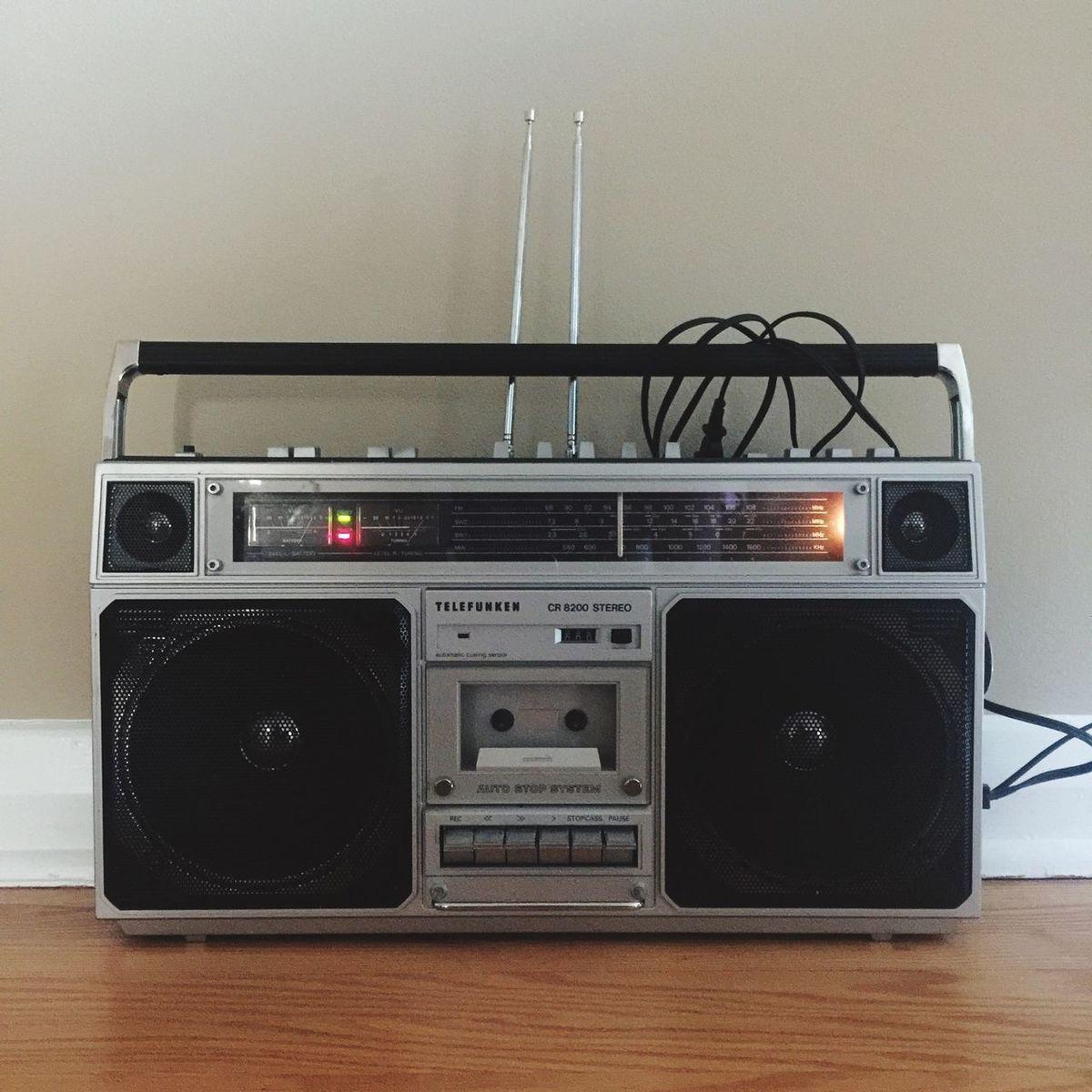 Ghetto Blaster Stereo Boombox Music