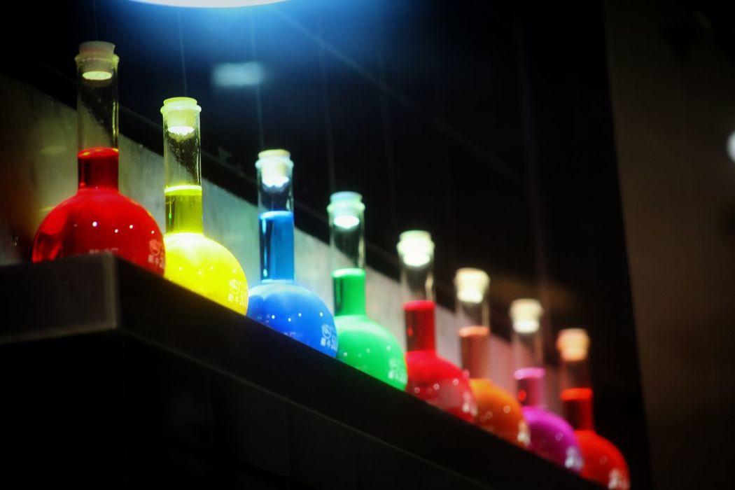 Glass Bottle Bottle Candy Shop Liquid Colorful