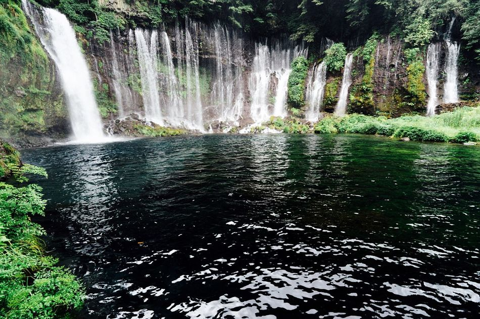 Waterfall Waterfalls Green And Water Water Reflection Outdoors EyeEm Nature Lover Hello World Taking Photos Enjoying Life Relaxing July 2016 Summer Refreshing :) Green Shizuoka,japan Mt Fuji, Japan Shiraitonotaki Falls Japan Fresh Air... Relaxing Hot Day