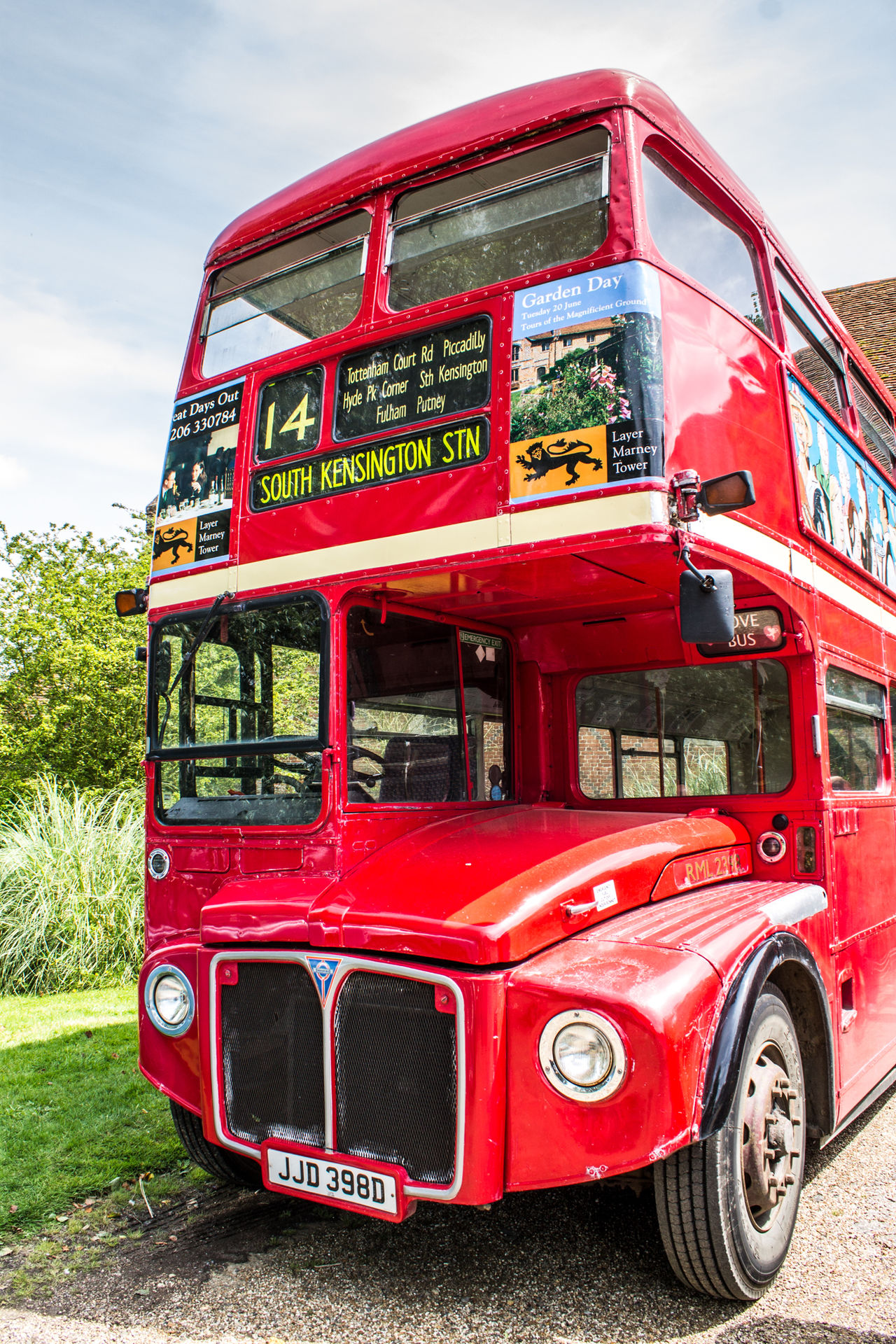 Red Outdoors Day No People Sky Transportation Mode Of Transport Land Vehicle Transport Close-up Vehicle Petrol Bus London Bus Double Decker Bus