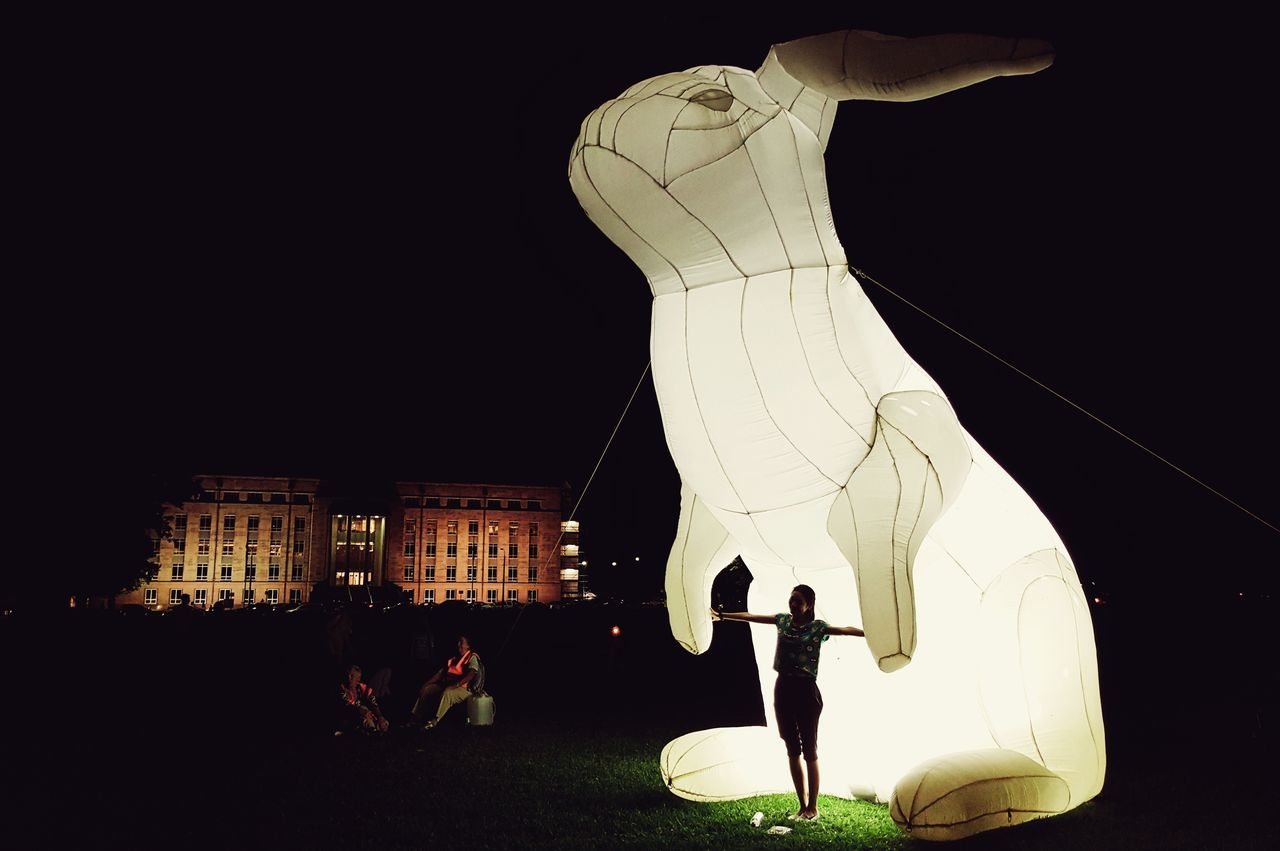 People Watching After Dark Rabbit Rabbits Silhouette Silhouette_collection Light And Shadow Light And Shadows Enlighten2016 Enlighten Enlighten Canberra Visit Canberra