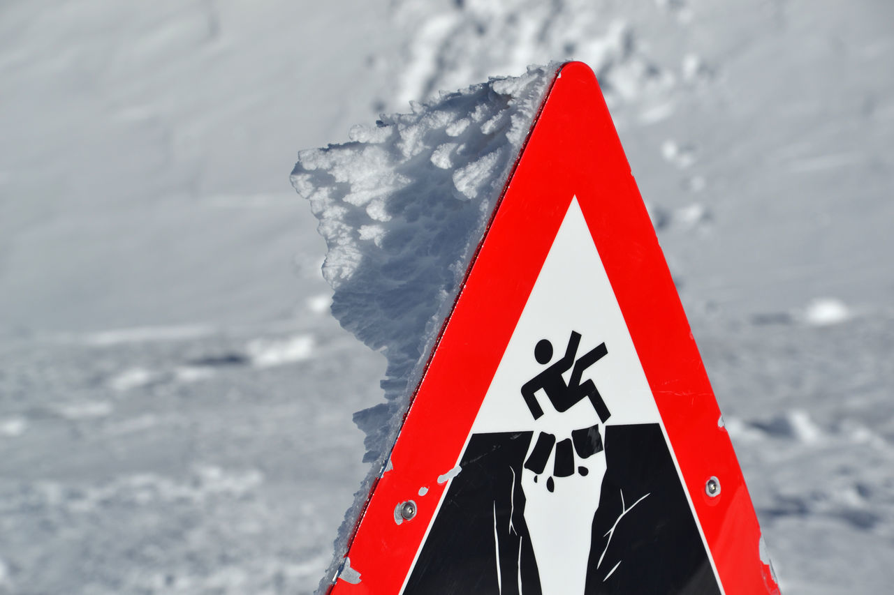 Jungfraujoch, Switzerland Attention Close-up Cold Temperature Danger Dangerous Day Death Glacier Ice Icy Jungfrau Jungfraujoch Mountain Nature No People Outdoors Sign Signal Snow Top Of Europe Winter