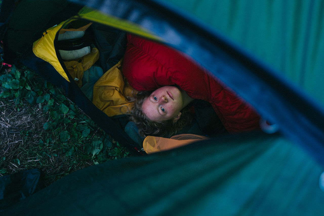 Hilleberg Lying Down Morning One Person Sleeping Tent Waking Up Young Adult The Week On EyeEm