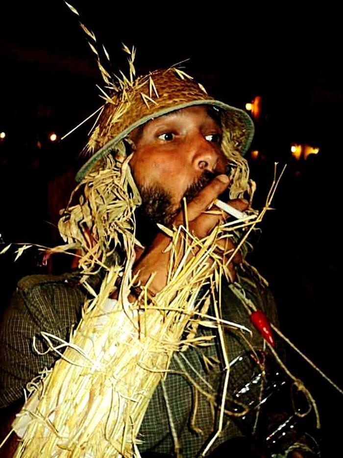 One Person Portrait Cigarette  Straw Straw And Cigarette Strawman