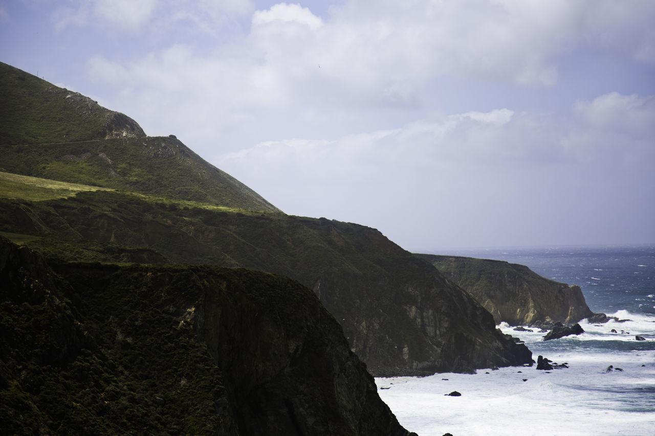 Cliffs in Big Sur, California Big Sur Big Sur, California. Cliffs Cliffside Cultures Landscape Ocean Ocean And Rocks Outdoor Pursuit Outdoors People Waves