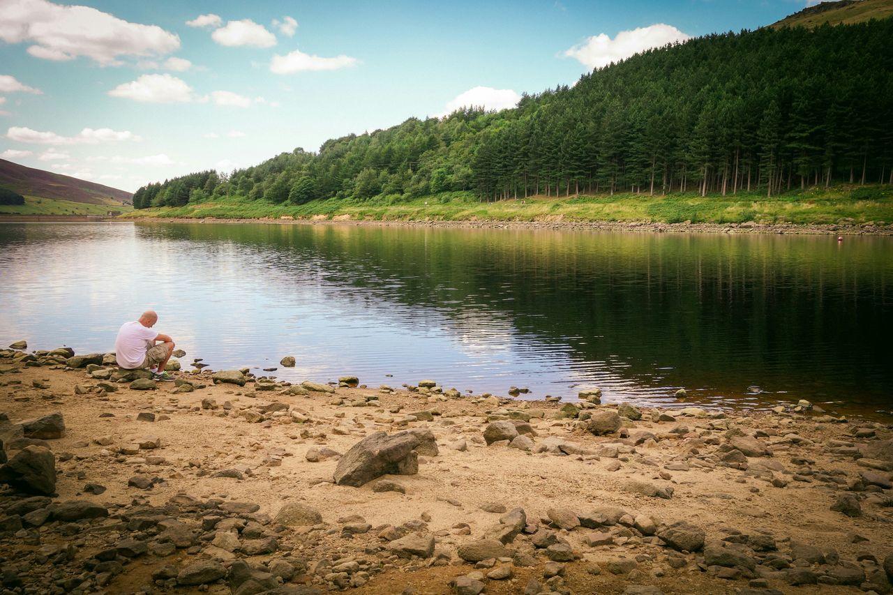 Reservoir Nature Reserve Outdoor Landscape Water Shore Nature Dovestone