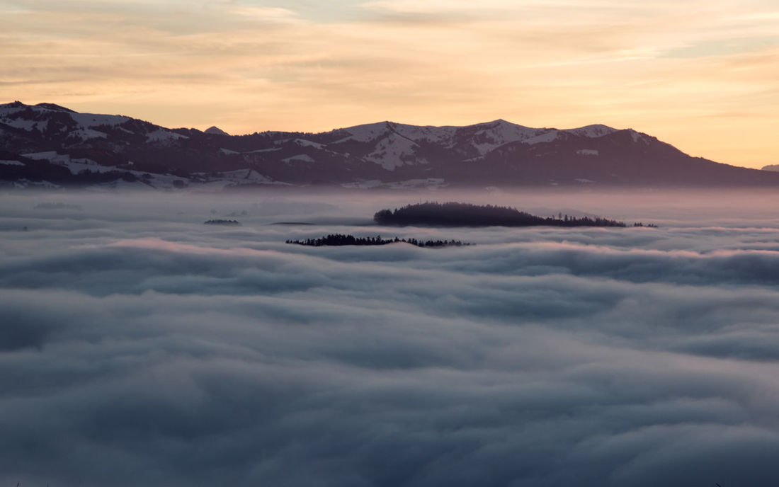 Above The Fog Sea Of clouds Above The Clouds Beauty In Nature Cloud - Sky Fog Majestic Mountain Mountain Range Nature Scenery Scenics Sea Of Fog Sunset Tranquil Scene Tranquility