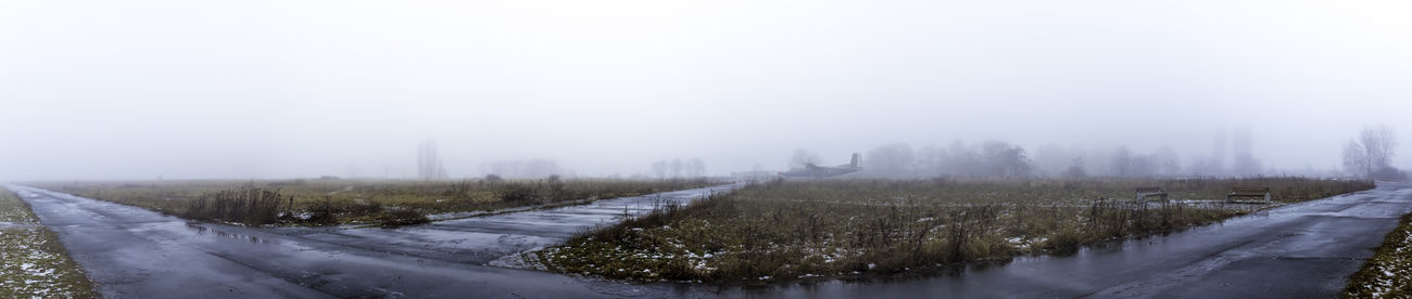 Foggy Morning on the old Tempelhof Airfield Abandoned Abandoned Airfield Abandoned Places Airfield Tempelhof Capture Berlin Flughafen Berlin Tempelhof Rollfeld Flughafen Tempelhof  Foggy Foggy Day Foggy Landscape Foggy Morning Foggy Weather Historical Monuments Lost Places Runway Taxiway Tempelhof Airport Tempelhofer Feld Tempelhofer Freiheit Tranquility Winter Plane Panoramic Panorama Airplane