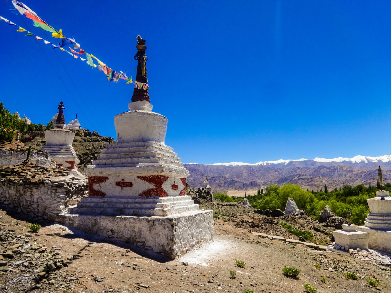 Leh Palace Leh Ladakh India Travel Photography Ancient History Travel Destinations Vacations Ancient Built Structure Clear Sky Blue Travel Sky Sunlight Religion No People Pilgrimage Landscape Spirituality Outdoors Statue Day