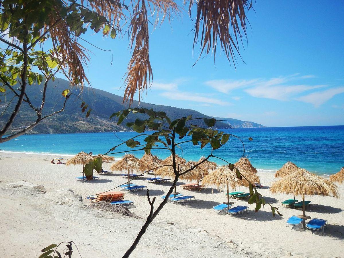 Shades Of Blue Summer Greece Kefalonia Sea EyeEm Best Shots Umbrella Beach Summer Views Nature Colors Of The Sea