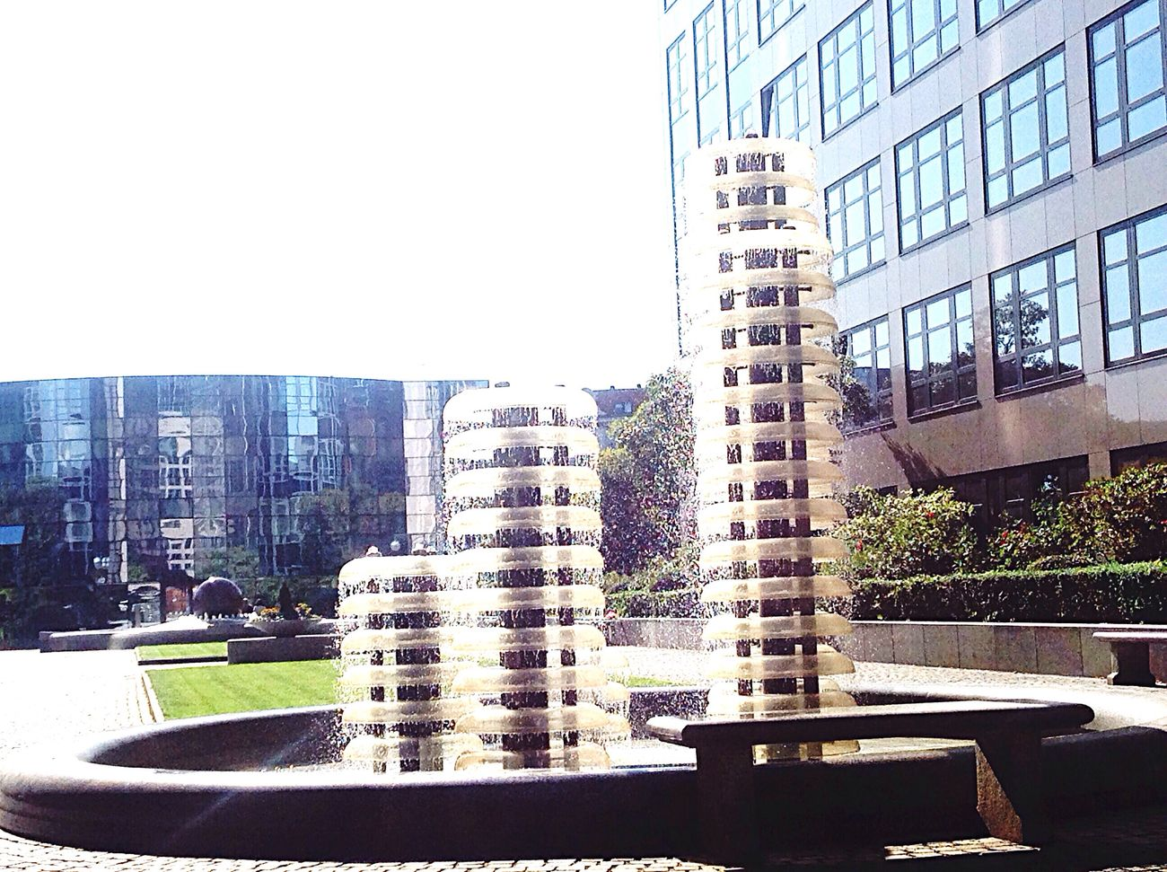 Fountain Fountains Fountain_collection Fountain Fun Fountain Plaza Fountaine Modern Residential Building Photos Berlin Photography Photo Architecture Photograph