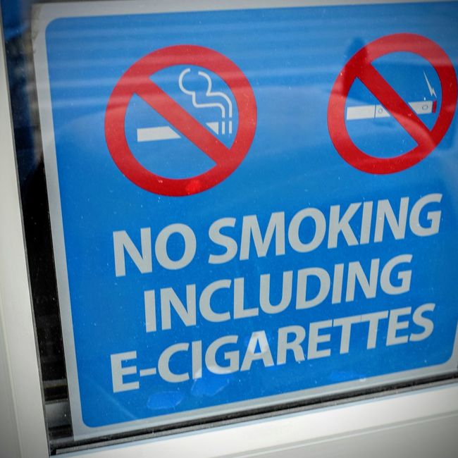Fairbury, Nebraska October 2016 A Day In The Life Americans Close-up Color Photography Communication Culture Department Store Don't E-Cigarette Entrance Getty Images No People No Smoking No Smoking Sign People Of Wal Mart Photo Pub Rural America Shopping Sign Sinage Smoke Text Vape Vape Life