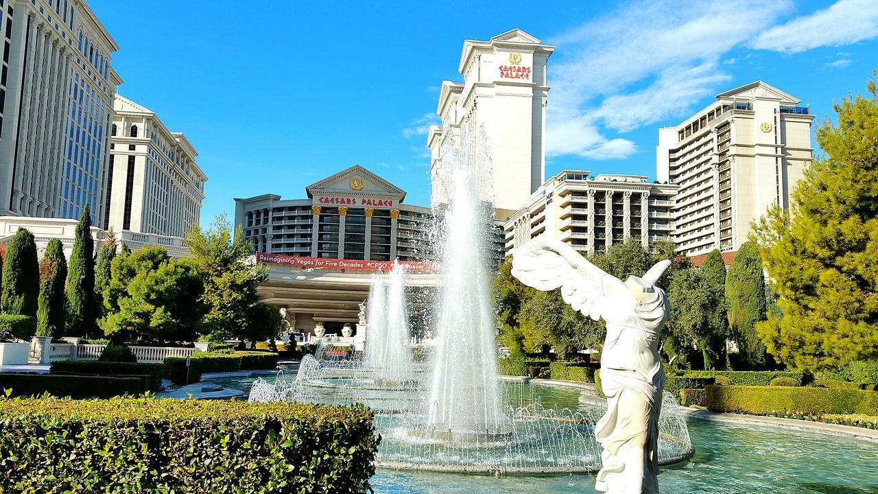 Travel Destinations Las Vegas Architecture Caesarspalace Caesar's Palace  Blue Skies