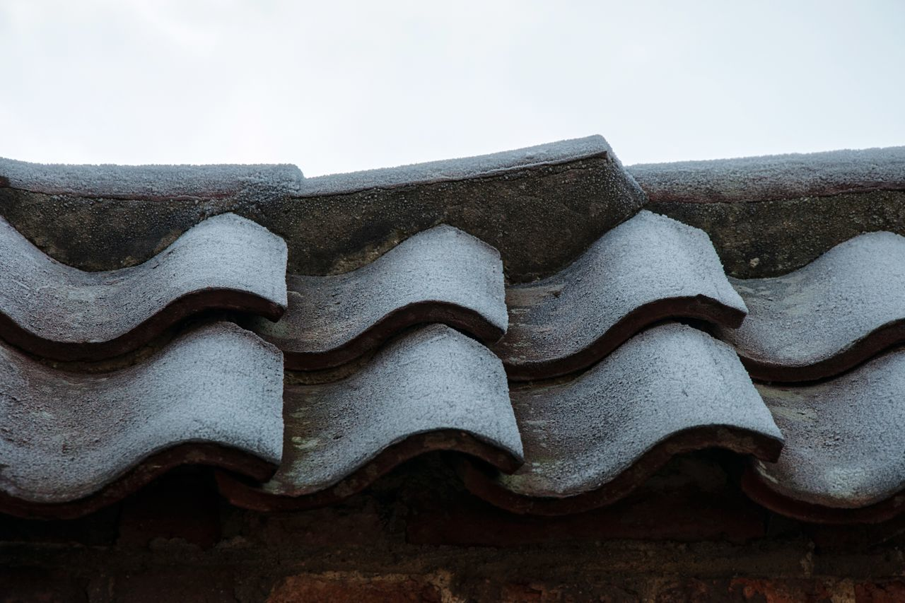 - Frosty roof tiles on a brick wall no2 - Roof Built Structure Architecture Close-up Building Exterior Wall Brick Wall Bricks Rooftop Roof Tile Frost Frosty Exterior Pattern Pattern Pieces Pattern, Texture, Shape And Form Nikon Nikonphotography Netherlands