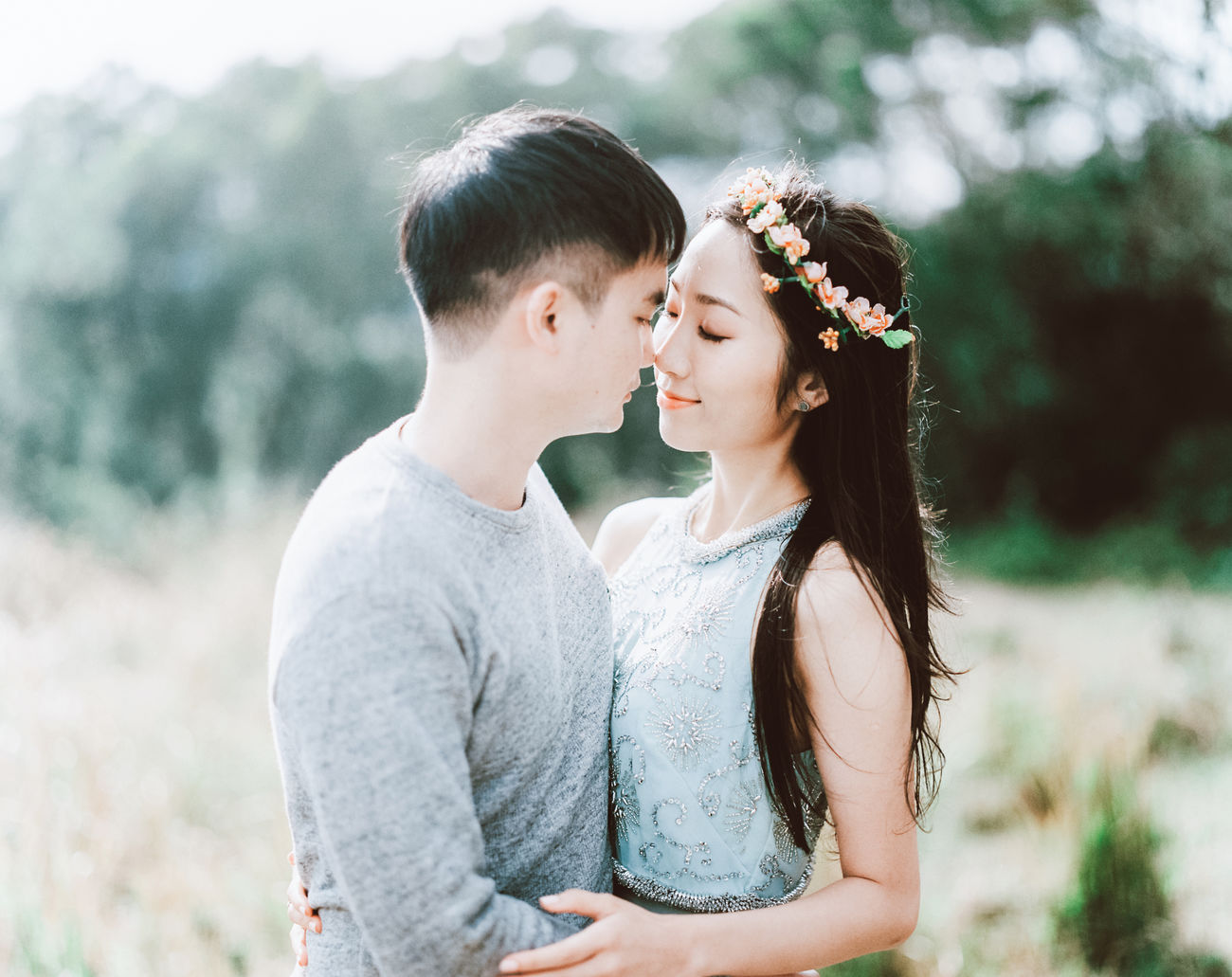 Adult Bonding Bride Casual Clothing Childhood Day Focus On Foreground Happiness Leisure Activity Lifestyles Love Outdoors People Real People Standing The Portraitist - 2017 EyeEm Awards Togetherness Two People Waist Up Wedding Dress Young Adult Young Women