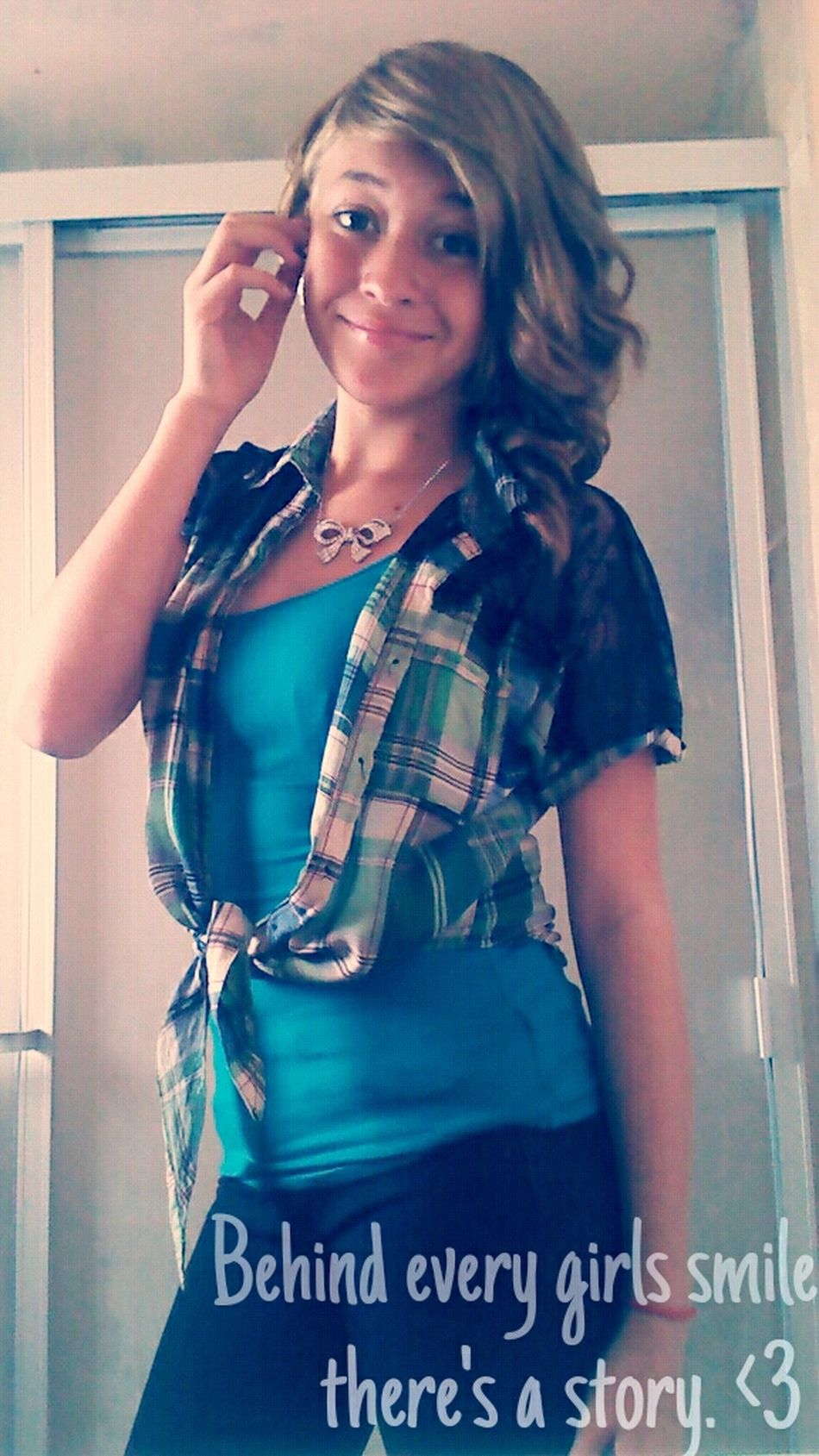 Behind Every Girls Smile There's A Story. <3