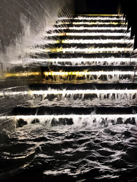 Water Outdoors No People Motion Architecture Close-up Night Fountain Black