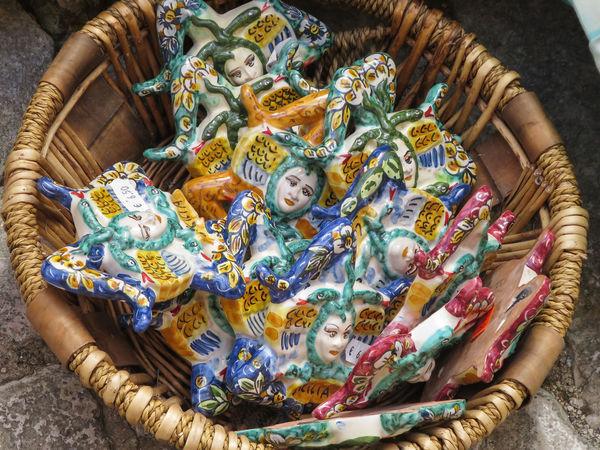 Colour Colour Of Life Colourful Colours Erice Gift Shop Pattern Repetition Sicily Souvenir Souvenirs Trinacria Triskelion