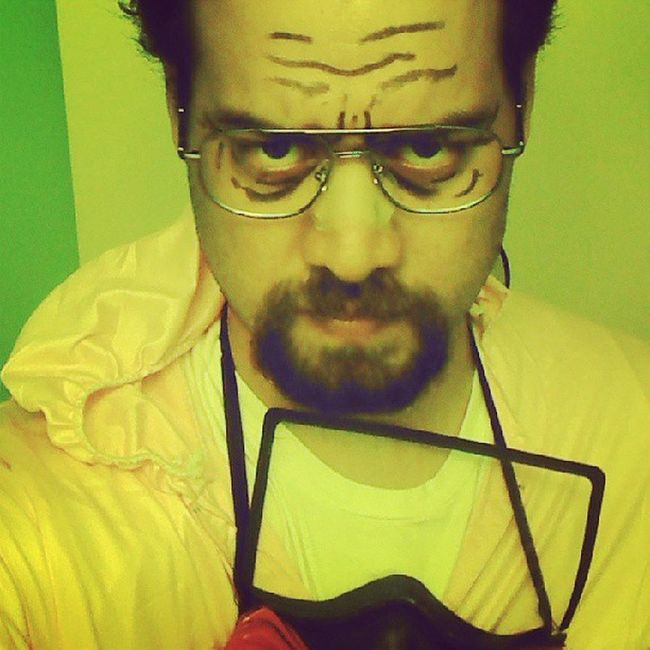 """Hmmm Halloween ... considering shaving my head or maybe just a bald cap... and if you don't know who I am, """"I am the one who knocks"""" Ww Mrwhitelives"""