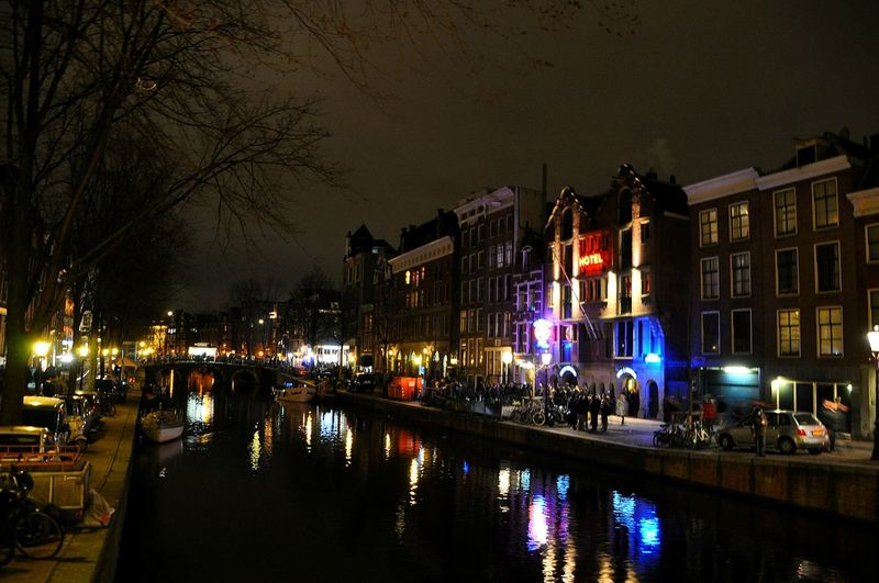 Cities At Night Streets Of Amsterdam Amsterdam By Night The Street Photographer Reflected Glory Reflections In The Water Street Photography Red Light District EyeEm Best Shots - The Streets All The Neon Lights Welcome To My World Netherlands Amsterdam Canal Reflections Canal Houses Amsterdam Streets Neon Lights Red Lights Canals In Amsterdam Hello World Neon Streets Prostitutes EyeEm Best Shots Street Life