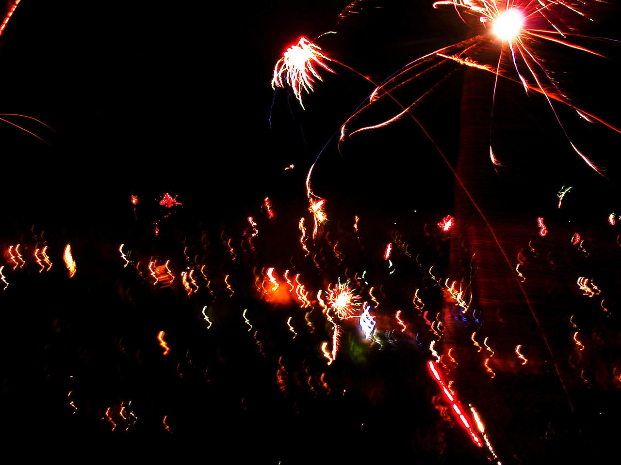 2008 Celebration Event Exploding Firework - Man Made Object Firework Display Fireworks Freiburg Germany January New Year Night No People Sparks