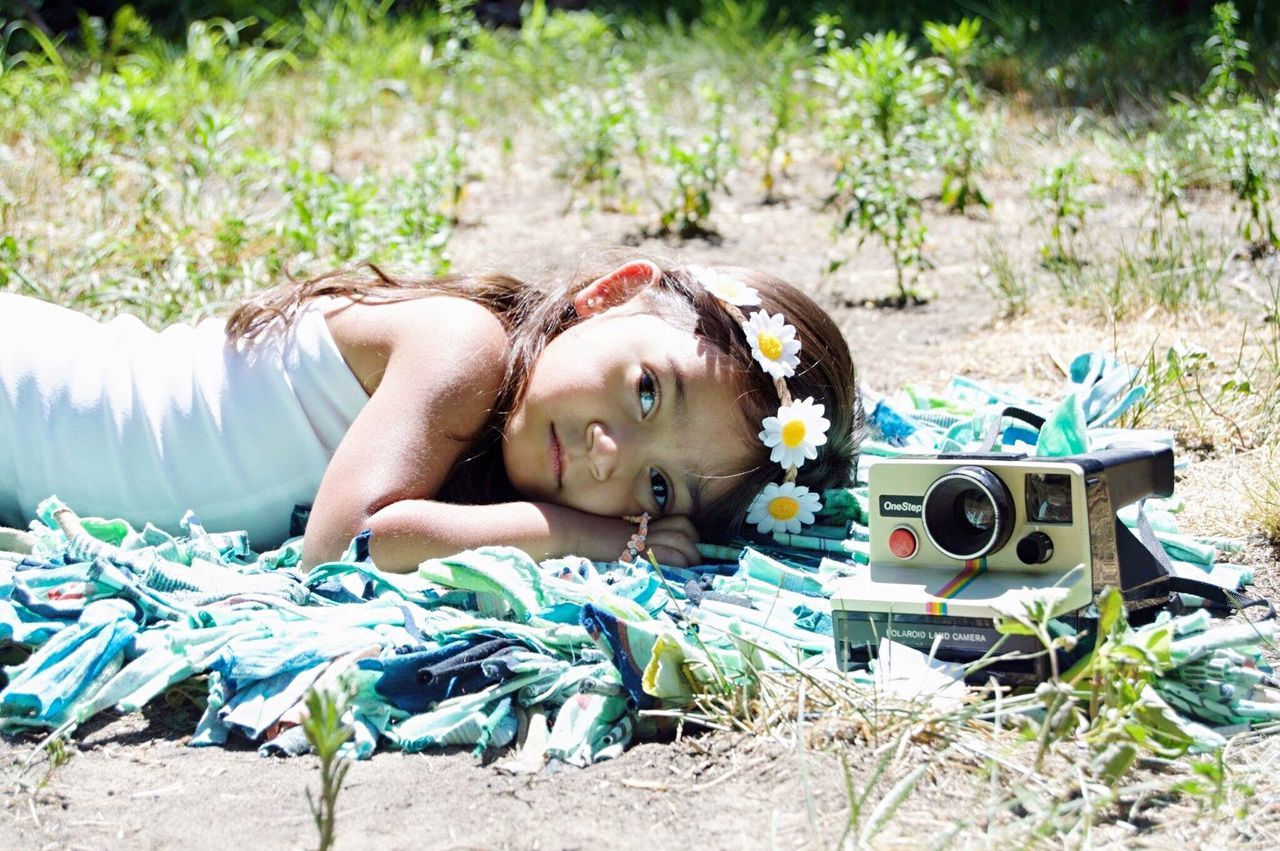 Lying Down One Person Child Outdoors Summer Day Beauty Portrait Beauty In Nature Beautiful Innocence Children Cutie Long Hair Enjoying Life Detroit Bright Posing Fouryearsold Grass Nature Flower Childhood Girl